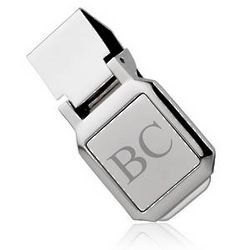 Square Silver-Plated Money Clip
