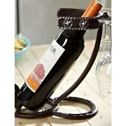 Horseshoes and Spurs Wine Bottle Holder