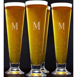 Tall Personalized Pilsner Glasses