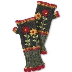 Fairest Flora Fingerless Mittens