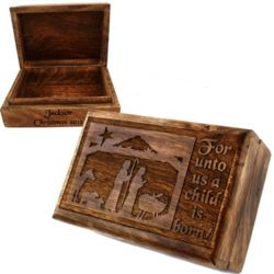 Personalized Nativity Trinket Box