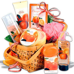 Women's Mandarin Spa Gift Basket