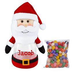 Personalized Santa's Helpers Plush Treat Jar with Candy