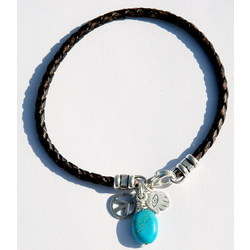 Hand of Peace Turquoise Bracelet