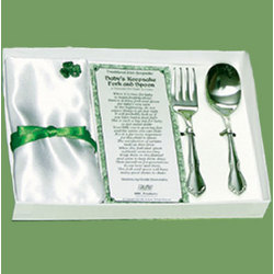 Irish Keepsake Fork and Spoon Gift Set