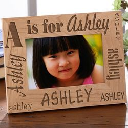 Personalized Kid's Alphabet Name Picture Frame