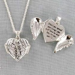 Angel Wing Inspirational Silver Tone Necklace