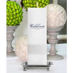 Personalized Celebration Unity Candle With Stand - Square Pillar