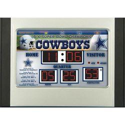 NFL Team Scoreboard Desk Clock