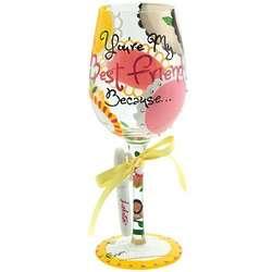 You're My BFF Wine Glass