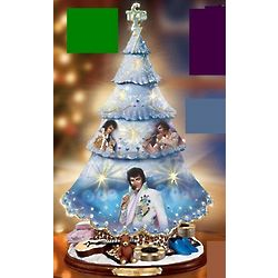 Elvis Presley Porcelain Musical Christmas Tree