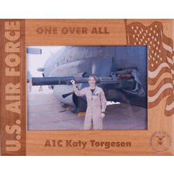 Personalized Wooden Air Force Frame