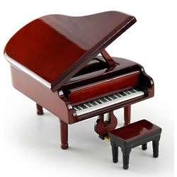 Brown Baby Grand Piano Music Box