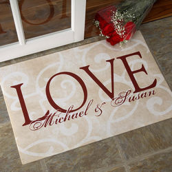 Love Ever After Personalized Doormat