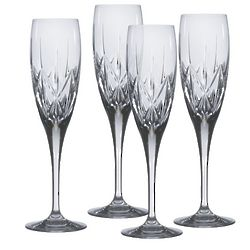 Country Manor Crystal Champagne Flutes