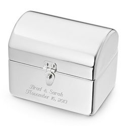 Personalized Bridesmaid's Treasure Chest Favor