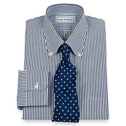 Bengal Stripe Buttondown Collar Dress Shirt