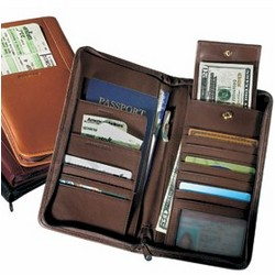 Passport and Airline Ticket Wallet