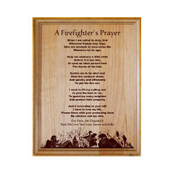 A Firefighter's Prayer Personalized Wood Plaque