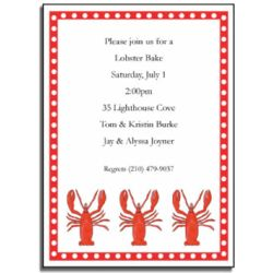 Personalized Lobster Bake Invitations