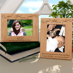 Personalized God Loves You Wooden Picture Frame