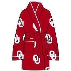Ladies' Oklahoma University All Over Print Cozy Robe