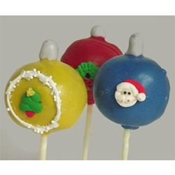 Hand Decorated Ornament Cake Pops