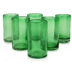 Highball Glasses in Emerald Green