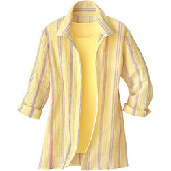 Bayside Textured Stripe Shirt