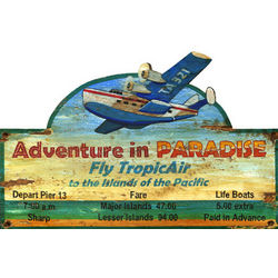 Paradise Float Plane Sign