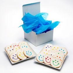 24 Smiley Sugar Cookies