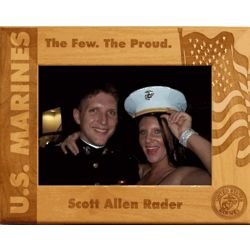 Personalized Wooden Marines Frame