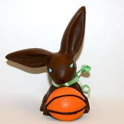 Chocolate Easter Basketball Bunny