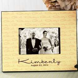 Custom Daddy's Girl Wedding Picture Frame
