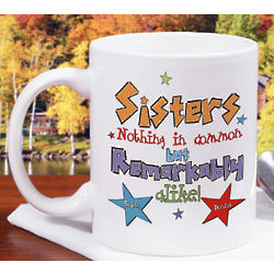 Personalized Remarkable Sisters Coffee Mug