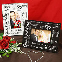 Personalized Our Wedding Printed Frame