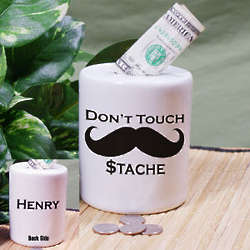 Personalized Ceramic Don't Touch My Stash Coin Jar