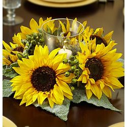 Sunflower and Berry Centerpiece