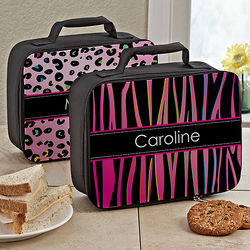 Animal Print Personalized Lunch Tote