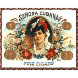 Senora Cubana Vintage Cuban Cigar Ad Poster