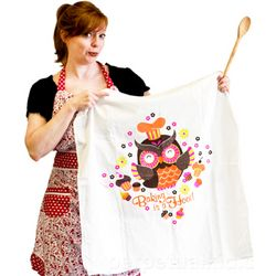 Baking is a Hoot! Flour Sack Towel