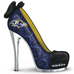 Baltimore Ravens High Heel Shoe Figurine
