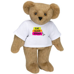 "Eat, Sleep, Scrap 15"" Bear with T-Shirt"