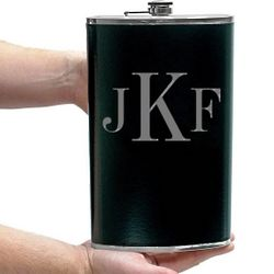 Extremely Large Monogrammed Flask
