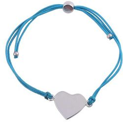 Heartfelt Shimmer in Sky Blue Sterling Silver Pendant Bracelet
