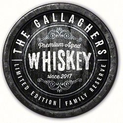 """Family Reserve 15"""" Round Personalized Whiskey Sign"""