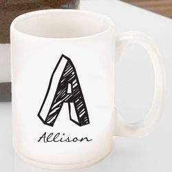 Kate Monogram Designed Coffee Mug