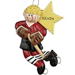 Hockey Personalized Christmas Ornament