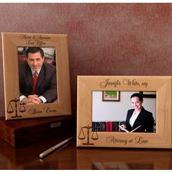 Personalized Lawyer Wooden Picture Frame