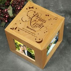 Engraved Prom Photo Cube